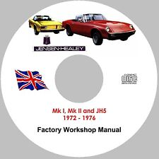 Jensen-Healey Factory Workshop, Service and Repair Manual on CD-ROM, 1972 – 1976
