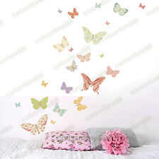 25 Floral Butterflies Wall Stickers Art Decal Home Kids Decor Removable Vinyl