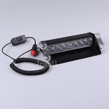 Car 8 LED White Police Power Strobe Flash Light Emergency 3 Flashing Mode JUK