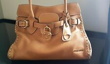Miu Miu Camel Leather Handle Bag