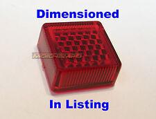 Un único auto adhesivo matrícula Reflector 20mm Cuadrado Rojo Motocicleta Mot 1