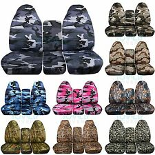 1993-1998 Ford F-Series F-150/250/350 40/20/40 Camo Truck Seat Covers w Console