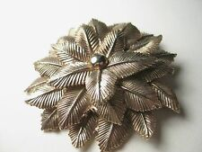 Vintage Art Deco Floral Blossom Perfume Brooch, Chunky Layered Design