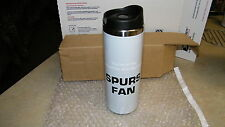 """San Antonio Spurs """"SPURS FAN"""" 16oz Stainless Steel Travel Tumbler, HOT OR COLD."""