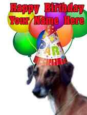 Sloughi Dog Party Card codeslo Birthday A5 Personalised Greeting card