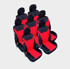 7x Sitze Auto Sitzbezug Sitzbezüge Schonbezüge Schonbezug Universal Set Rot