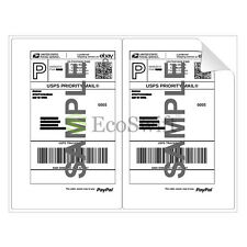 (2) 8.5 x 5.5 XL Premium Shipping Half-Sheet Self-Adhesive eBay PayPal Labels