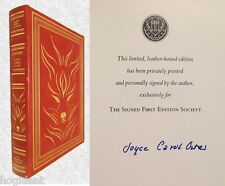 LTD Signed First Edition - Leather w/22kGold - FOXFIRE - Joyce Carol Oates