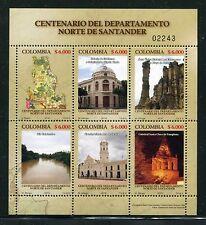 Colombia 1340, MNH, Norte de Santander Department Map Buildings 2010 x23627