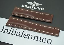 Breitling LEATHER brown 444X 24/20 strap band 100% ORIGINAL & NEW