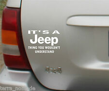 JEEP Thing Funny Car Decal Sticker Compass Grand Cherokee Wrangler 4x4 Graphic