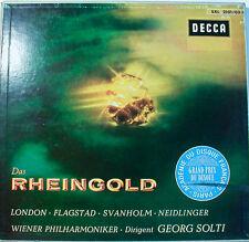 """WAGNER DAS RHEINGOLD SOLTI LONDON-FLAGSTAD-SVANHOLM-NEIDLINGER-  12"""" LP  [k353]"""