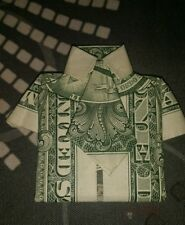Money Origami -  a Dollar Bill folded (Polo Shirt with Tie) paper folding