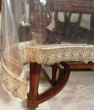 center  table cover,transperent sheet  Golden border