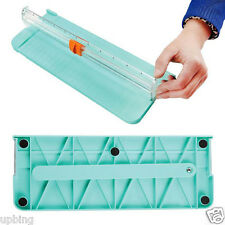 Jielisi 4 Colors Mini Ruler Paper Cutter Trimmer Knife Cutting