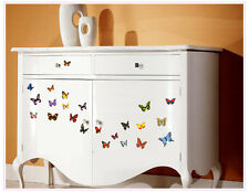 Colorful 80 Transperent Butterfly Wall Stickers Mural Art Home Decoration UK