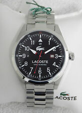 Designer Lacoste Classic Montreal 2010776 Black Dial Bracelet Mens Watch NEW