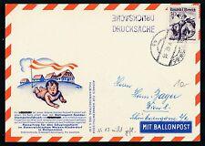 76667) Österreich Ballonpost Karte RBF 13 Aufbrauch DS Wien 1962