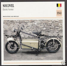 1941 Socovel Electric Scooter Moped Belgium Bike Motorcycle Photo Spec Card
