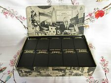 WE REMEMBER... Collectors Tin Holds 10 Lighters Zippo, 1994 w/plastic cases