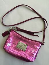 AUTHENTIC COACH POPPY PINK SWEETHEART SEQUIN  CROSS BODY  SMALL HANDBAG