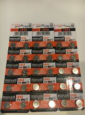 30 NEW LR44 MAXELL A76 L1154 AG13 357 SR44 303 BATTERY FREE SHIPPING FROM USA
