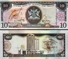 TRINIDAD AND TOBAGO 10 DOLLAR 2006 UNC P.43