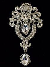 Rhinestone Crystal Wedding Cake Brooch Flower Bouquet Pin Decoration Brooch#44