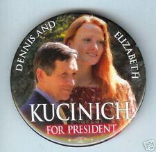 DENNIS and ELizabeth KUCINICH President pin 08