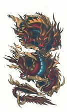 """EXTRA LARGE TEMPORARY TATTOO CHINESE DRAGON * GIANT SIZE * 7"""" X 4"""" BIG"""