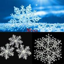 30PCS Classic Snowflake Tree Hang Ornaments Christmas Party Festival Decor C4