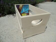 "Hand Built 45rpm 7"" inch Record Vinyl Crate Storage Solid Wood - Unfinished Pine"