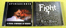 Fight - War of Words  &  Spinegrinder - Visual Symphony of Horror ~ Punk CD Lot