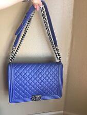 Chanel Boy Bag Bright Blue