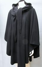 Wool Cashmere Cape Made in Ireland by MOLINA with Attached Scarf/Hood One Size