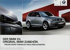 Prospekt BMW X3 Zubehör 2/11 2011 Autoprospekt brochure accessories Auto PKWs