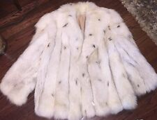 WONDERFUL whole skins KEEGAN Furs FOX BLUE FOX FUR COAT A-LINE big collar