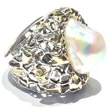 anello MISANI A736 in argento 925 oro giallo kt  diamante e perla mabe'