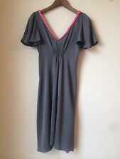 Sarah Luna Gorgeous And Rare Silky Drapey Gray Disco Dress 70's Inspired Sz 2