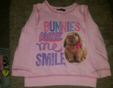 GIRLS TOP BUNNIES MAKE ME SMILE PINK FROM GEORGE 3 TO 4 YEARS