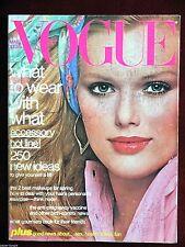 Vogue Magazine ~ March 1977 ~ Patti Hansen Lisa Taylor Christie Brinkley