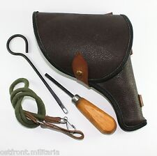 Original Soviet M1985 Nagant revolver belt holster with accessories Marked