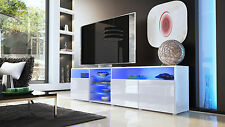 "White High Gloss Modern TV Stand Unit Media Entertainment Center ""Granada V2"""