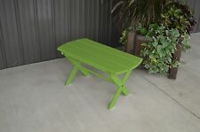 Yellow Pine Outdoor Folding Coffee Table Amish Made USA - Lime Green Paint