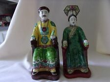 Chinese Porcelain Emperor and Empress Statue Figures