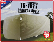 16 - 18 FT Caravan Cover Moisture Proof Polypropylene Easy Access Zipper Soft