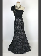 New Authentic TONY BOWLS 112508 Black One-Shoulder Ball Prom Evening Gown 0