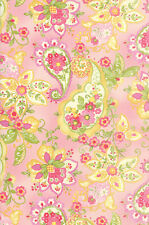 Colette Floral Paisley Rose Pink  Moda Quilt Fabric by the 1/2 yd #50-11