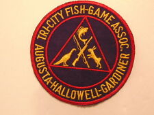 pre-owned Tri-City Fish-Game Assoc. patch: Augusta-Hallowell-Gardiner, Maine