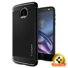 Spigen® Motorola Z Droid Case [Rugged Armor] Slim Black Shockproof TPU Cover